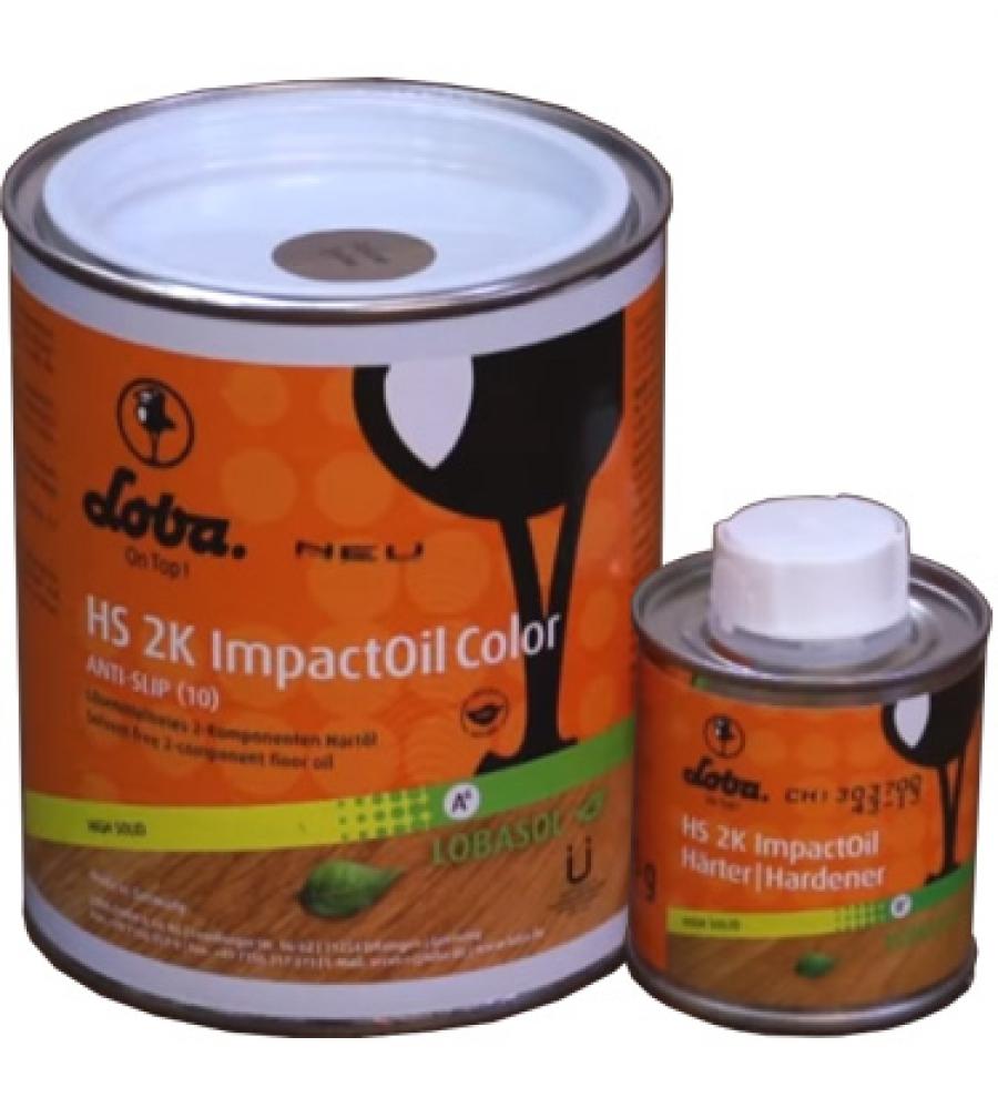 Lobasol HS 2K Impact Oil Color - двухкомпонентное цветное масло для паркетных полов
